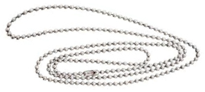 Neck Straps and Bead Chains - Nickel Plated Bead Chain - (24