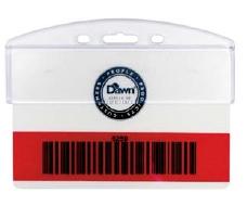 Rigid Plastic Badge and Card Holders - Half-Card Holder - Horizontal