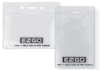 Clear Vinyl Badge Holders - Vinyl Badge Holder - (horizontal CC size)