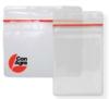 Clear Vinyl Badge Holders - Vinyl Badge Holder with Zip Closure - (horizontal)
