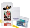 Clear Vinyl Badge Holders - Vinyl Badge Holders with Security Flap - Vinyl Holder with Flap (horizontal)
