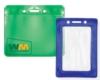 Color Vinyl Badge Holders - Color-Frame Badge Holder - Vertical