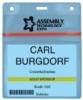 Color Vinyl Badge Holders - Trade Show Vinyl Badge Holder