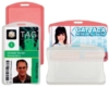 Plastic Badge and Card Holders - Flexible Plastic ID Card Holders - Horizontal, Semi-clear - New
