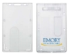 Plastic Badge and Card Holders - Clear Plastic Top-Loading ID Card Holder - Double Card Model