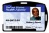 Rigid Plastic Badge and Card Holders - Rigid ID Card Holder - Single Sided, Black