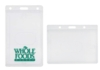 Rigid Plastic Badge and Card Holders - Clear Plastic Side-Loading Card Holder - (vertical, holds a single card)