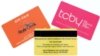 Gift Card Products - GiftCard, Credit Card Sized