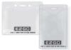 Clear Vinyl Badge Holders - Vinyl Badge Holder - (horizontal G size)
