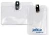 Clear Vinyl Badge Holders - Vinyl Badge Holder with Clip - (horizontal G size)