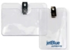 Clear Vinyl Badge Holders - Vinyl Badge Holder with Clip - (horizontal C size)