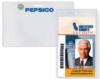 Clear Vinyl Badge Holders - Vinyl Prox Card Holder - (vertical CC size, slot & holes)