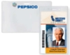 Clear Vinyl Badge Holders - Vinyl Prox Card Holder - (heavy-duty horizontal CC, slot & holes)