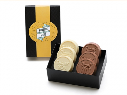 New! 6-Pack Thank You Chocolate Dipped Oreos