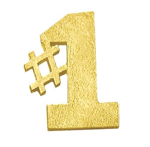 #1 Bright Gold Chenille Lapel Pin