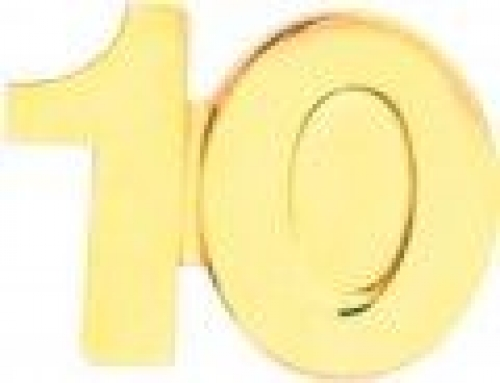 10 Service Lapel Pin