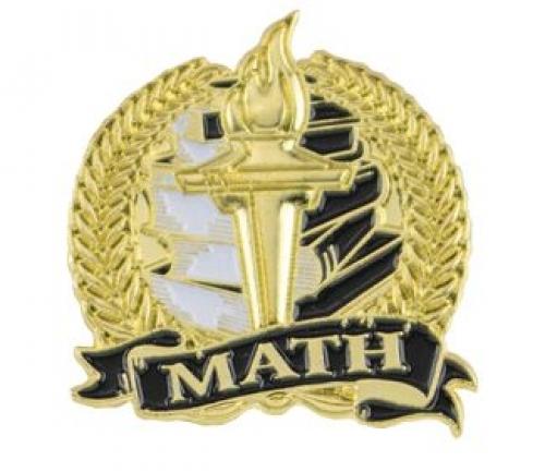 Bright Gold Academic Math Lapel Pin (1-1/8