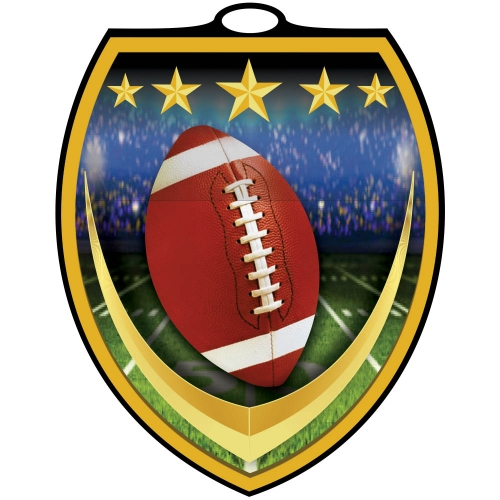 Vibraprint™ Shield Football Medallion (3