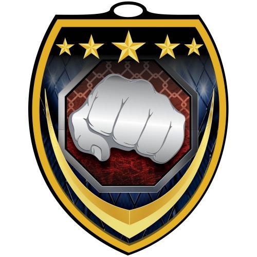 Vibraprint™ Shield Martial Arts Medallion (3