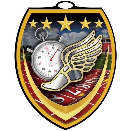Vibraprint™ Shield Track Medallion (3