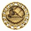 Antique Book & Lamp Star Medal (2-1/2