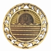 Antique Swimming Star Medal (2-1/2