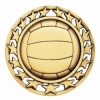 Antique Volleyball Star Medal (2-1/2