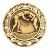 Antique Wrestling Star Medal (2-1/2