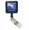 Vibraprint™ Square Badge Reel w/ Bull Belt Clip (1-1/4