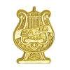 Band Lyre Chenille Lapel Pin