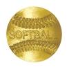 Softball Chenille Lapel Pin