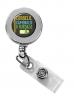 Vibraprint™ Silver Round Badge Reel w/ Belt Clip (1-1/4