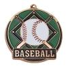 Bright Gold Baseball High Tech Medallion (2