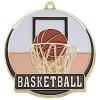 Bright Gold Basketball High Tech Medallion (2