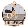 Bright Gold Female Gymnastics High Tech Medallion (2