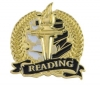 Bright Gold Academic Reading Lapel Pin (1-1/8
