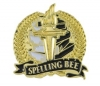 Bright Gold Academic Spelling Bee Lapel Pin (1-1/8