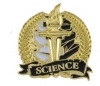 Bright Gold Academic Science Lapel Pin (1-1/8