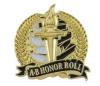 Bright Gold Academic A-B Honor Roll Lapel Pin (1-1/8