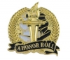 Bright Gold Academic A Honor Roll Lapel Pin (1-1/8