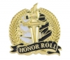 Bright Gold Academic Honor Roll Lapel Pin (1-1/8