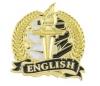 Bright Gold Academic English Lapel Pin (1-1/8