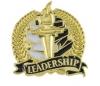 Bright Gold Academic Leadership Lapel Pin (1-1/8