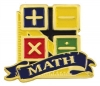 Bright Gold Educational Math Lapel Pin (1-1/8