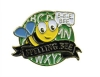 Bright Gold Educational Spelling Bee Lapel Pin (1-1/8