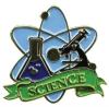 Bright Gold Educational Science Lapel Pin (1-1/8