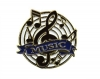 Bright Gold Educational Music Lapel Pin (1-1/8