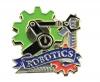 Bright Gold Educational Robotics Lapel Pin (1-1/8