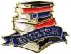 Bright Gold Educational English Lapel Pin (1-1/8