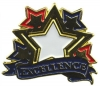 Bright Gold Educational Excellence Lapel Pin (1-1/8